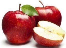 تفاح احمر من حلقة كوم